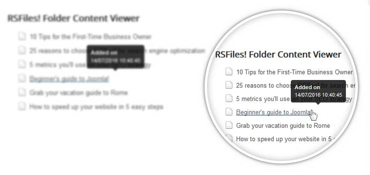 RSFiles! Folder Content Viewer module