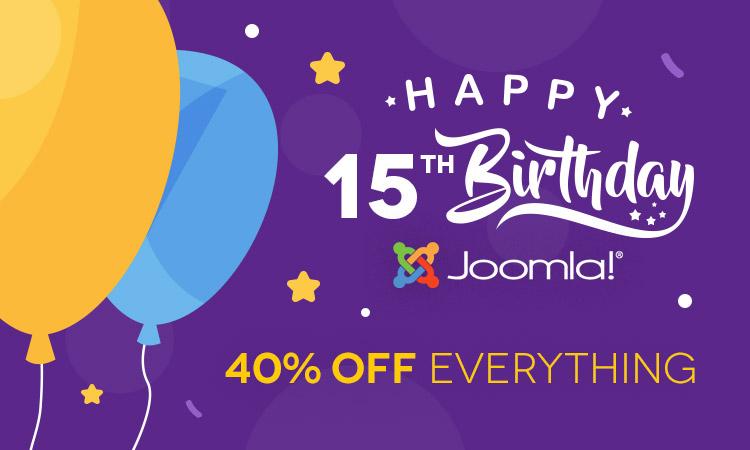 15 Joomla! Years - We celebrate through special prices