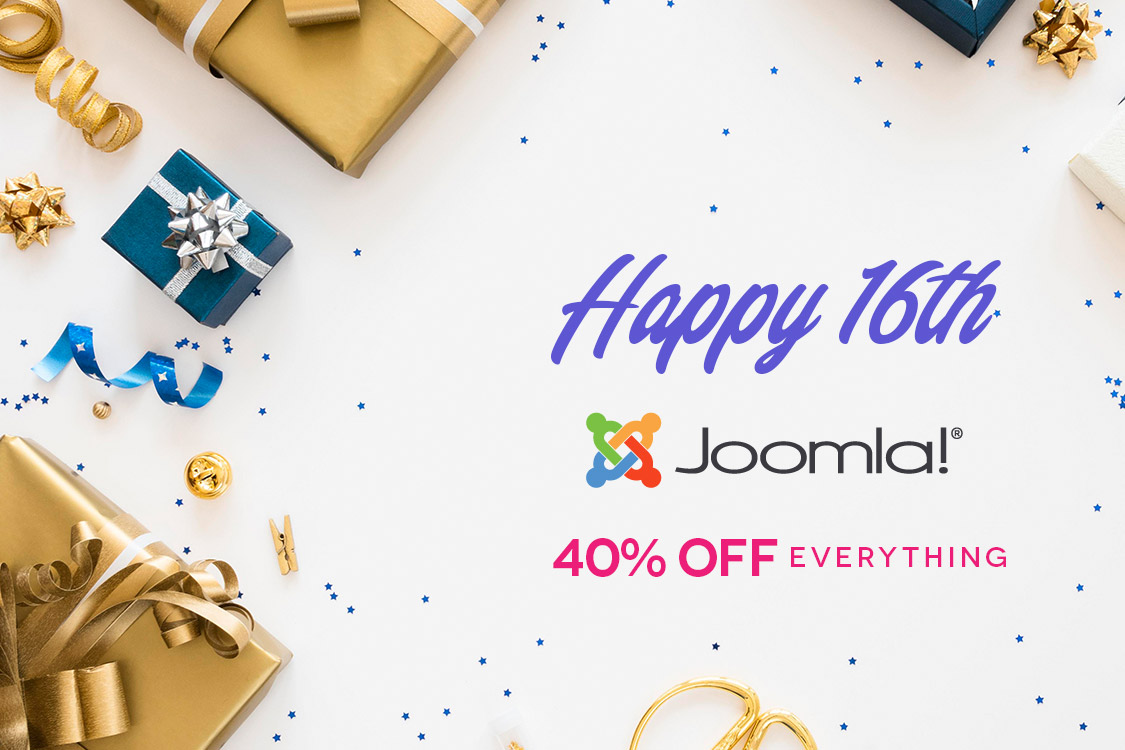 16 Joomla! Years - We celebrate through special prices