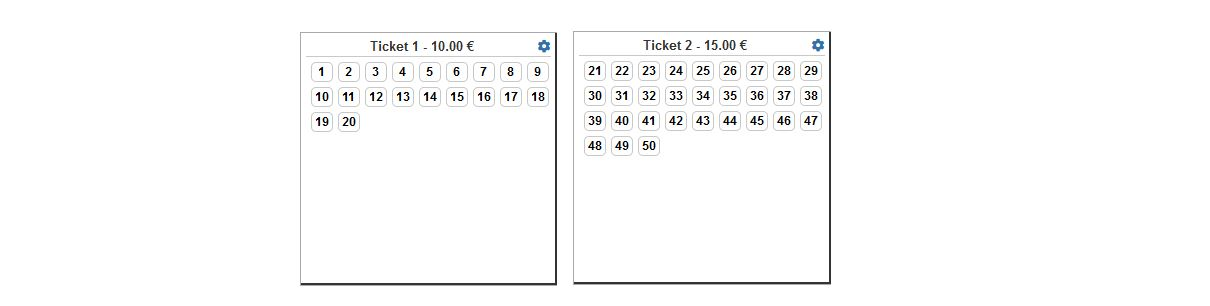 RSEvents!Pro Ticket Seats Configuration