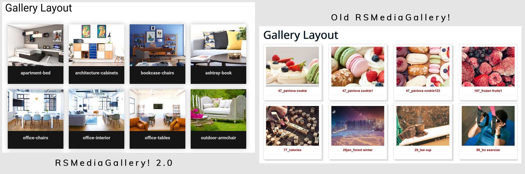 RSMediaGallery! 2.0 gallery layout