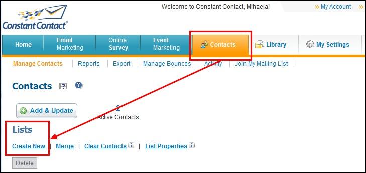 RSForm!Pro Constant Contact Integration