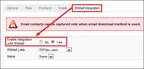 RSFiles! - RSMail! integration