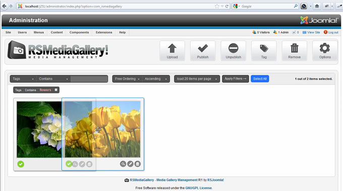 RSMediaGallery! Managing images