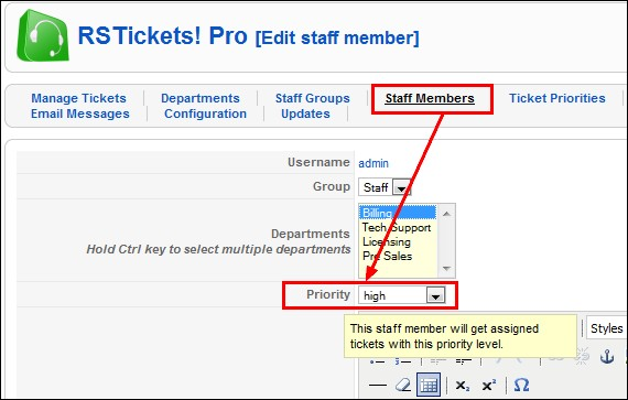 RSTickets!Pro - assign tickets based on their priority