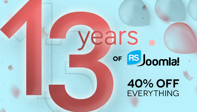 13 Years Anniversary Promotion