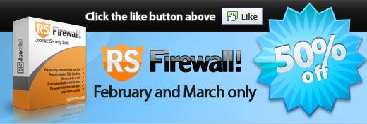 RSFirewall! 50% discount