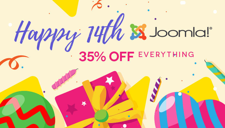 14 Joomla! Years - We celebrate through special prices