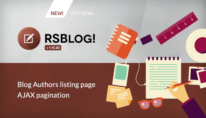 RSBlog! 1.13.20 - Ajax pagination and blog authors menu item
