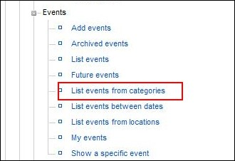 RSEvents! - list events from categories