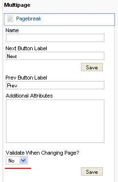 RSForm!Pro next page validation