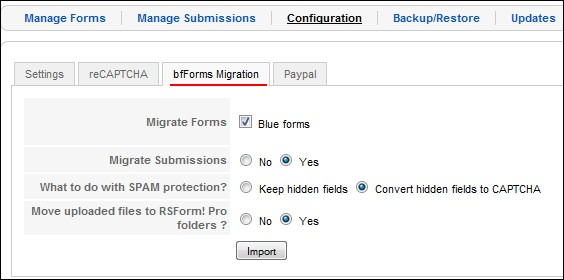 Migrate Joomla! 1.5 forms from bf forms to RSForm!Pro