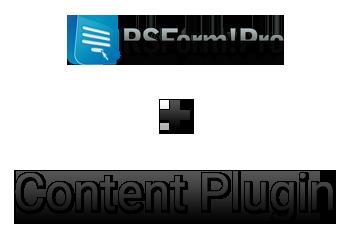 RSForm!Pro Content Plugin