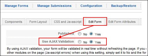 RSForm!Pro Ajax Validation