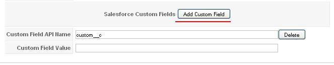 RSForm!Pro Salesforce custom fields