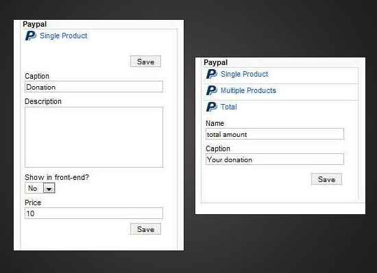 RSForm!Pro PayPal plugin - single product and total fields