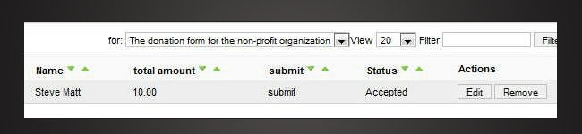 Verify the payment status directly from the RSForm!Pro backend panel