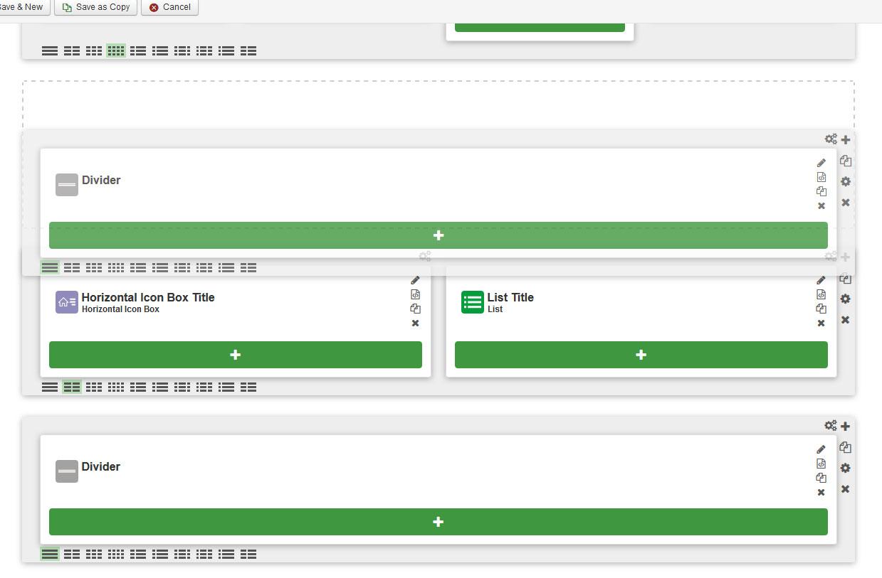 responsive administrator interface