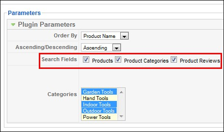 Search in Virtuemart products, categories and reviews