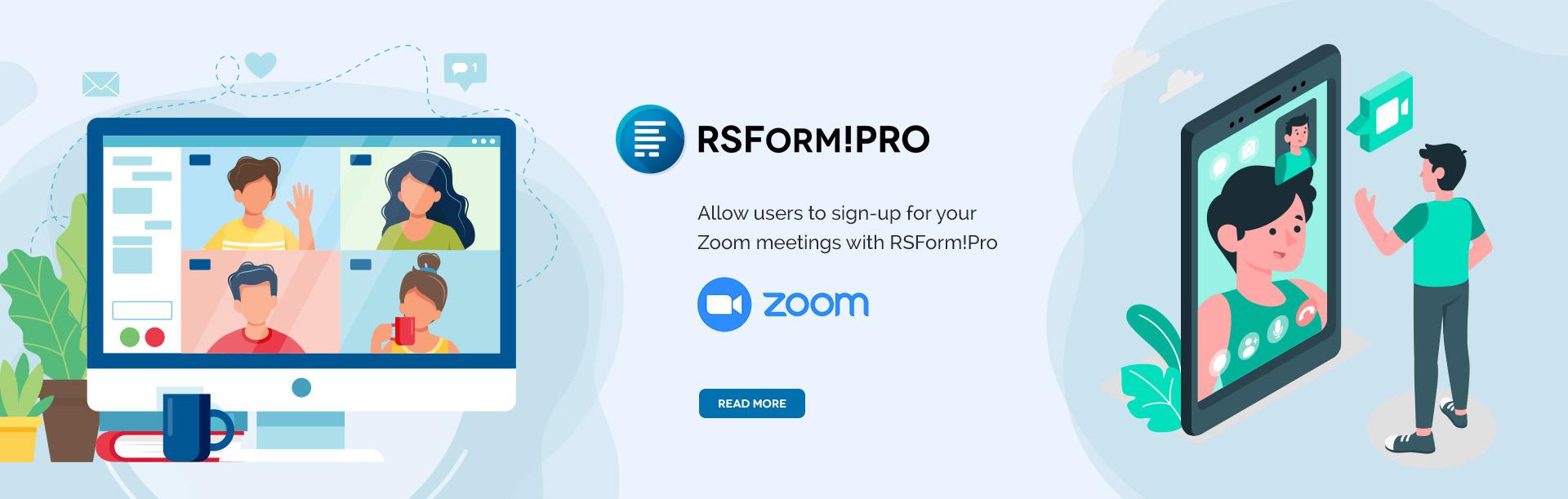 RSForm!Pro Zoom integration