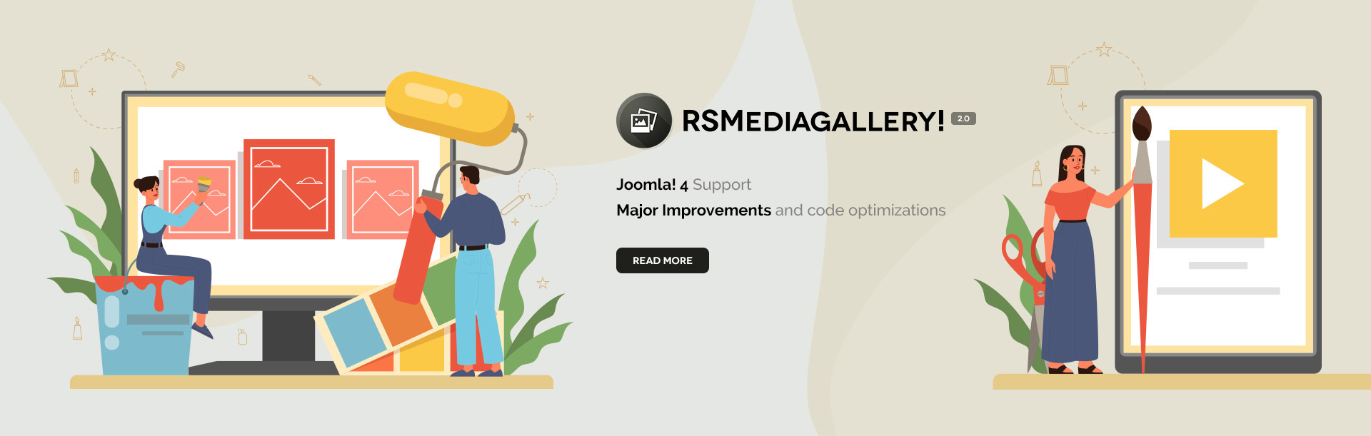 RSMediaGallery! Joomla! 4 support