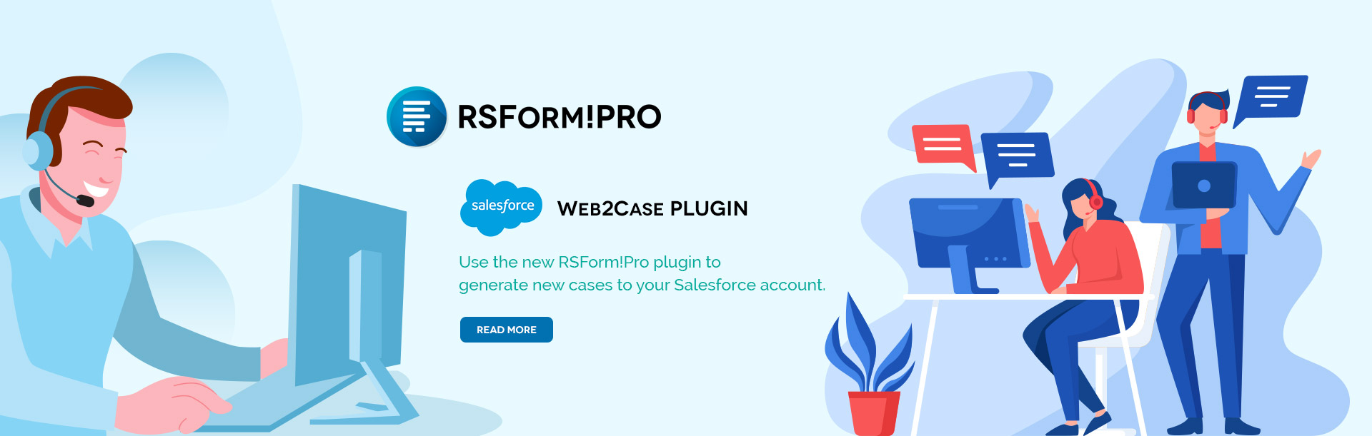 RSForm!Pro Salesforce Web2Case plugin
