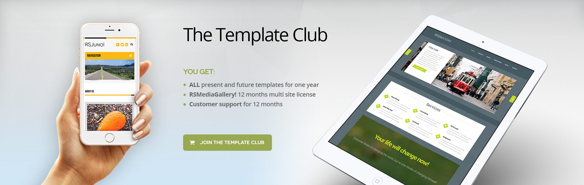 Join our template club