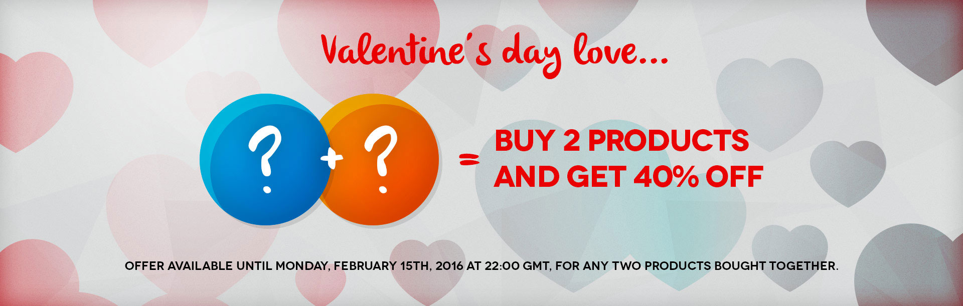 Discounts for Valentine's Day on all extensions and templates