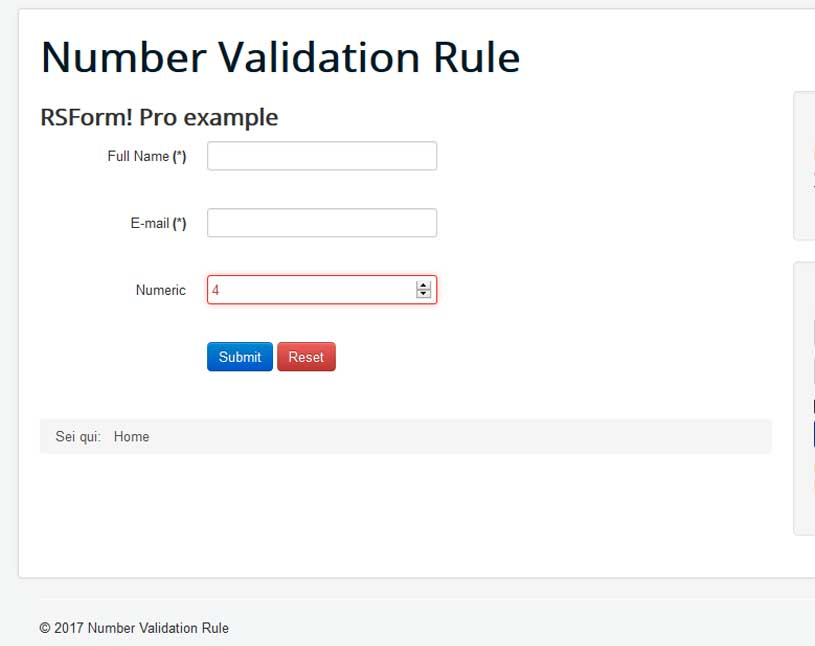 Number Validation Frontend Error