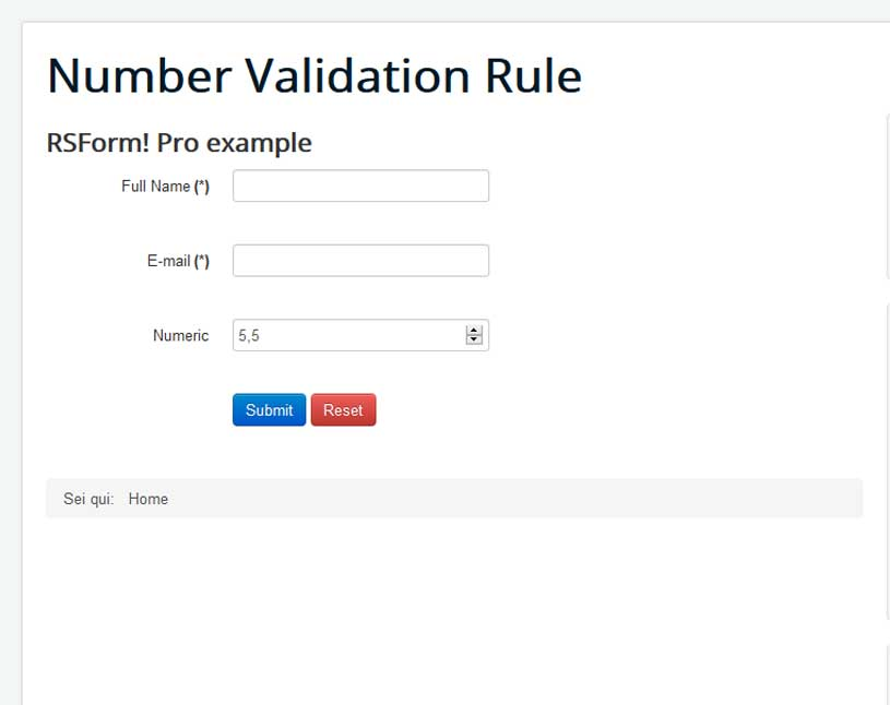Number Validation Decimals