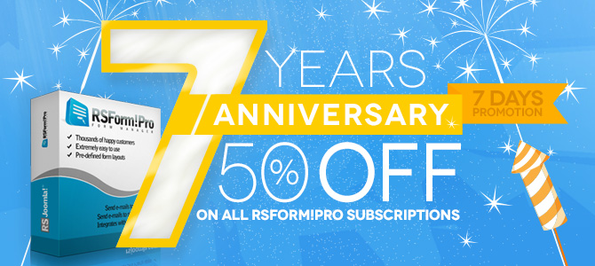 7 Years of RSForm!Pro