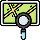 Search for entries on the map