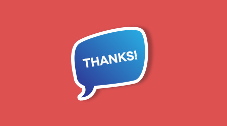 Customizable thank you message