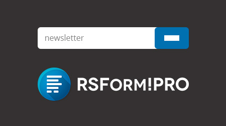 Custom newsletter sign-up forms via RSform!Pro integration