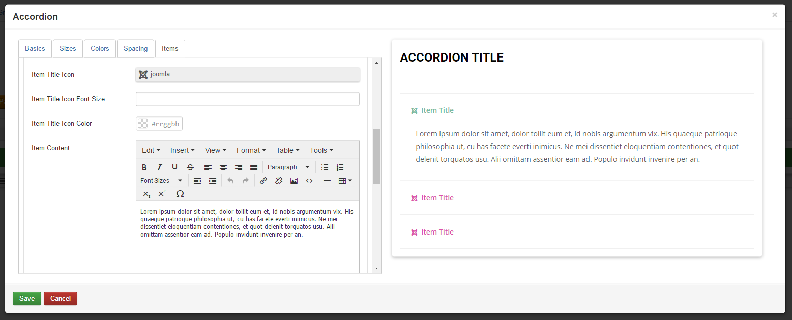 RSPageBuilder! Accordion Bootstrap
