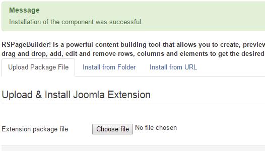 Installing RSPageBuilder! 3.x Joomla! template Step 4