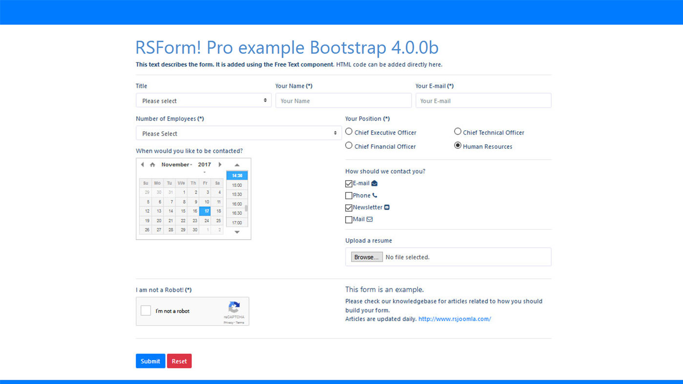 Frontend Bootstrap 4 Layout