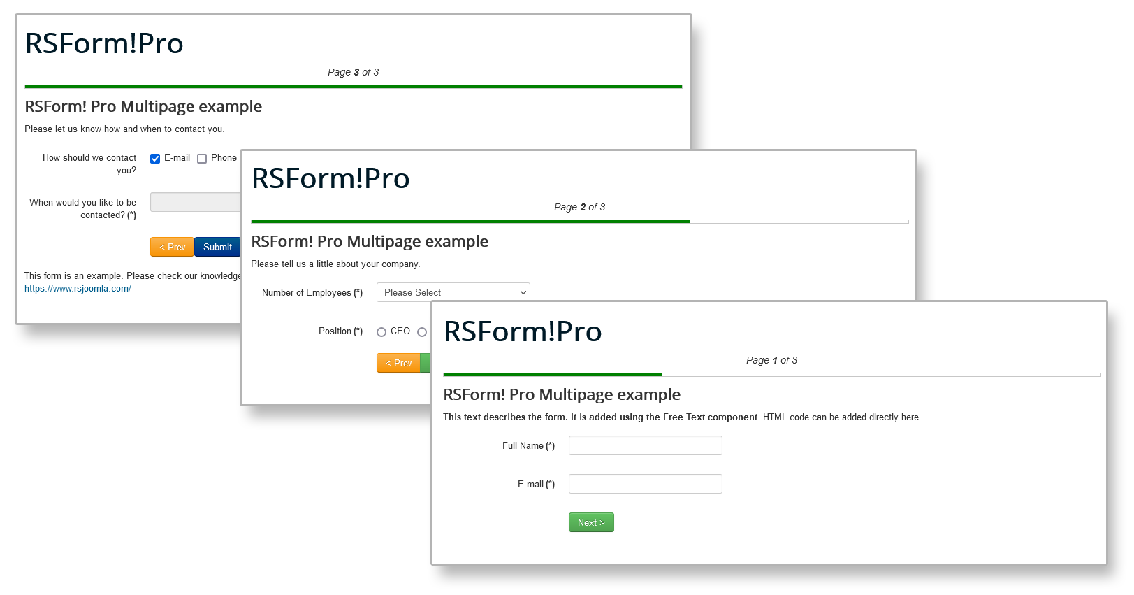 Frontend Multi-page Example