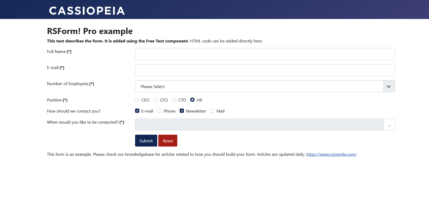 Frontend Bootstrap 5 layout