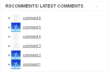 RSComments! latest comments for front-end