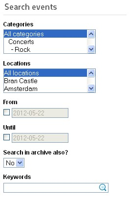 RSEvents!Pro Search events module