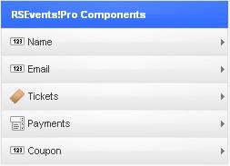 Joomla! RSEvents!Pro - Adding Joomla! form components