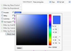 RSTickets!Pro Reports color settings