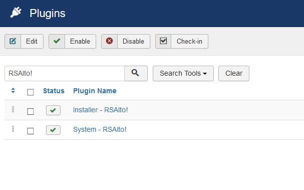 Go to Installer Plugin RSAlto!