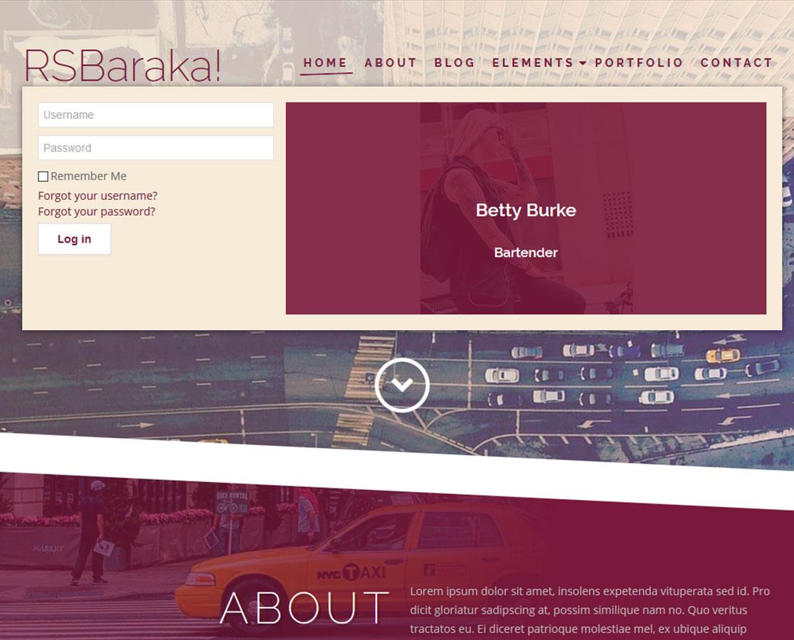 RSBaraka! - mega menu frontend example
