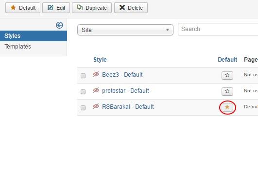 Installing RSBaraka! 3.x Joomla! template Step 5
