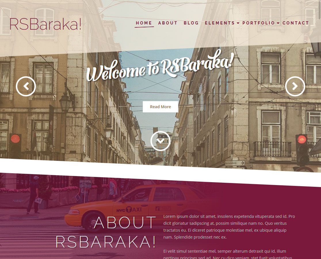 rsbaraka! - Screenshot Front End 1