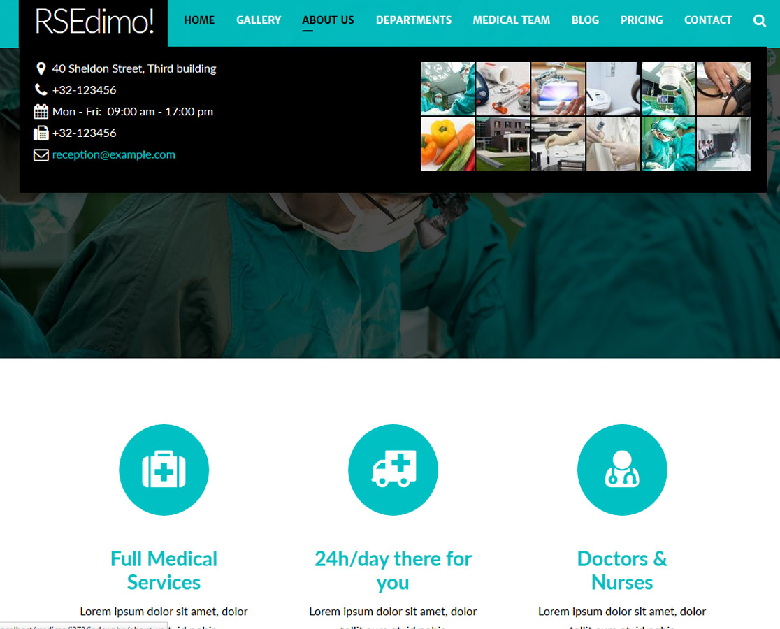 RSEdimo! - mega menu frontend example