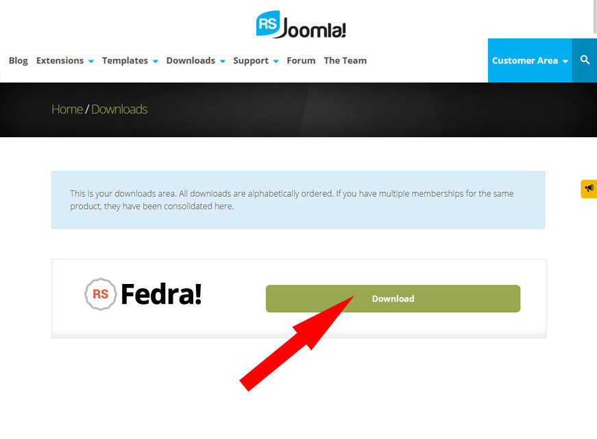 How to Download Template on RSJoomla! website 3