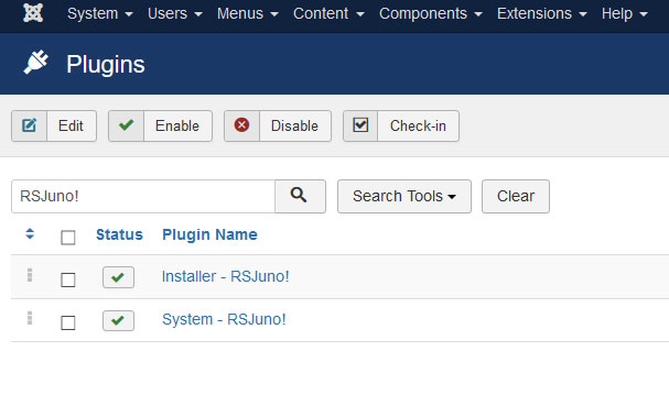 Go to Installer Plugin RSJuno!